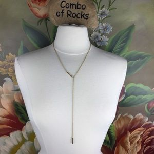 NEW Silpada Gold Toned Faux Lariat Necklace